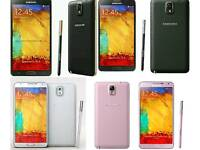 Brand New(Unlocked) Samsung Galaxy Note 3 32gb White And Black Colour Fully Boxed Up