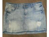 Jeans mini skirt size 14