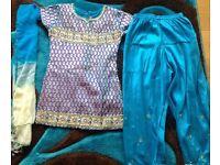 Blue Asian/Indian/Pakistani suit for girls size 28
