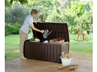 Keter Glenwood Outdoor Plastic Storage Box Garden Furniture. Fully built and ready for delivery!