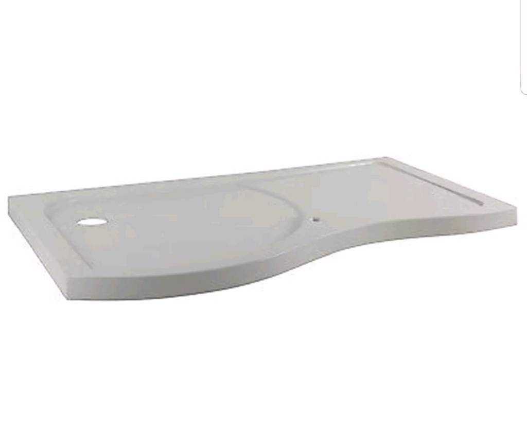 Premier BSF1400SLR Pacific Curved Walk-In Shower Tray Right Hand