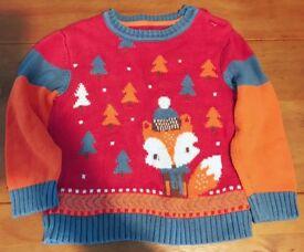 Boys Christmas jumper 12-18 months