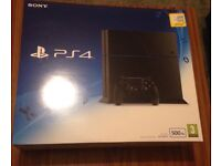 BRAND NEW BOXED UNOPEN PS4 Sony Playstation 4 Jet Black with FREE CONTROLLER