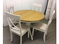 Circular Dining Table and Chairs, New & Unused.