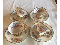 Bone China tea cups and saucers