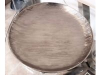 Large Decorative Silver Textured Metallic Plate from NEXT Home (33cm)