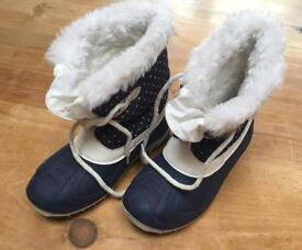 Kids SNOW Boots, size 11/Euro 30 with faux fur lining