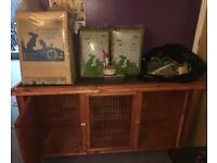 Rabbit hutch and extras