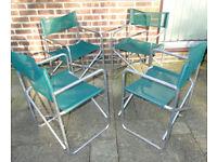 Set of 4 folding lightweight garden chairs