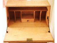 Art Deco Modernist Writing Desk with Bookcase. Vintage Mid-Century Midcentury Modern