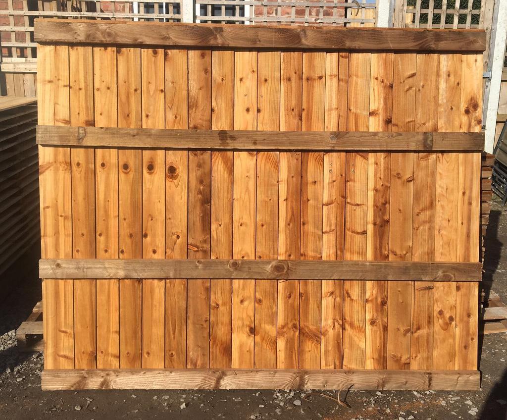 Tanalised heavy duty vertical board fence panels