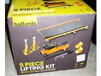 Halfords 5-piece 2-tonne Lifting Set – Suitable for cars. New, unused