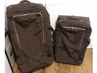 Kipling Suitcase Set - Matching Luggage - Pair of Large and Medium Soft Shell Expresso Brown