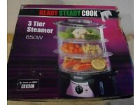 New Food Steamer - 3 Tiers
