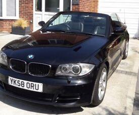 BMW 120D Cabriolet Black
