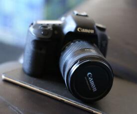 Canon 7D + EFS 55-135mm lens