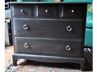 Stag Chest of Drawers Painted Dark Grey