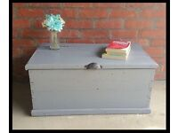 Up cycled wooden toy box/ trunk/table
