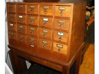 Wooden Vintage Post Table Drawers Antique Unique Rare Premium Quality