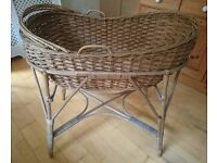Beautiful wicker Moses Basket - excellent condition