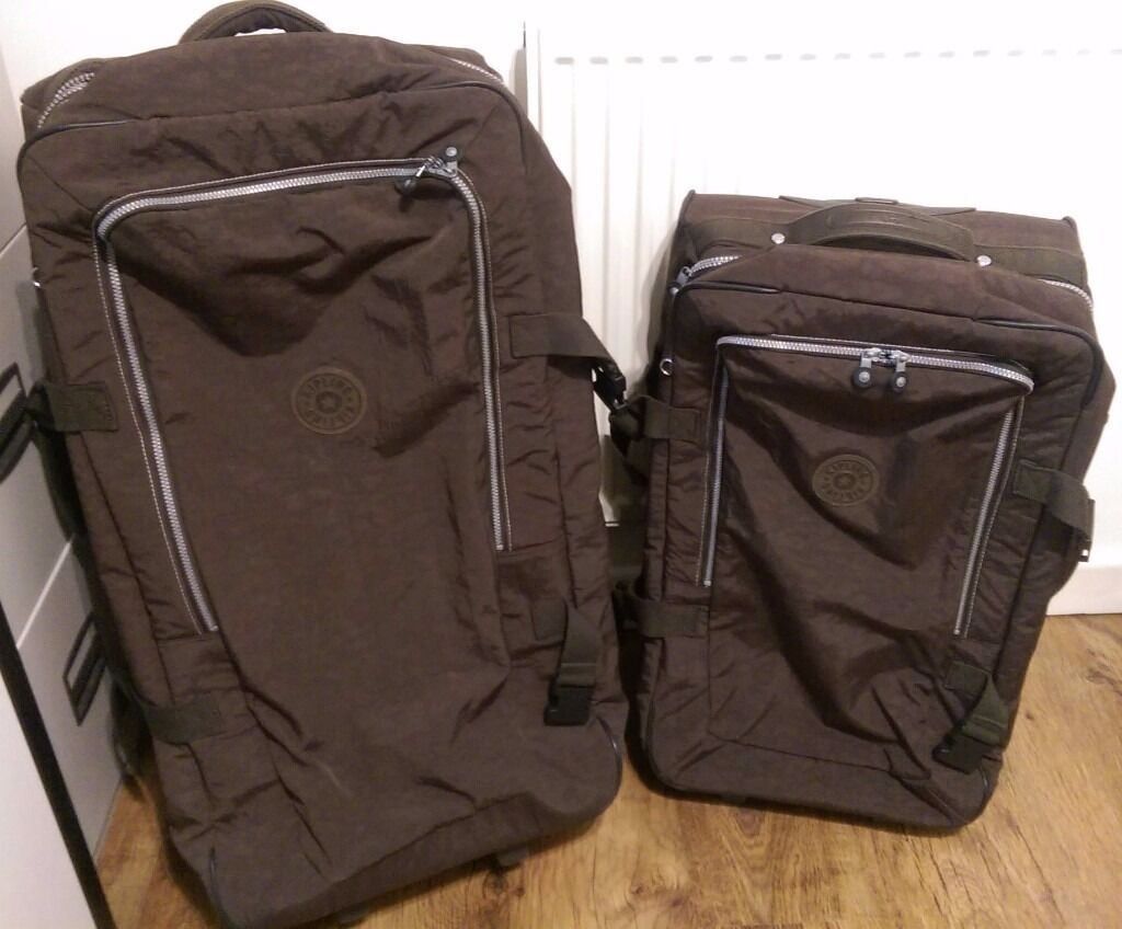 Perfect Kipling Suitcase Set   Matching Luggage   Pair Of Large And Medium Soft  Shell Expresso Brown