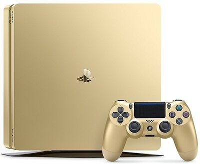 PlayStation 4 Slim (1TB) Console - PS4 GOLD LIMITED Edition (Sealed Retail Box)