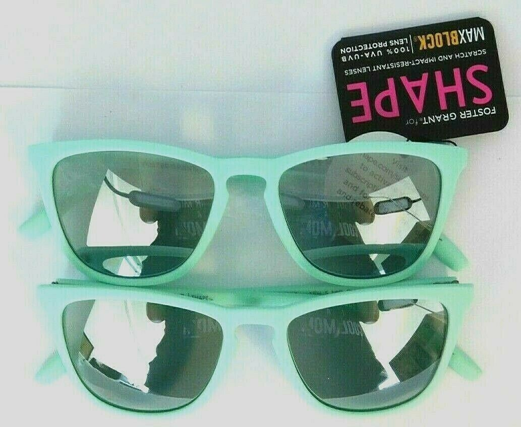 Lot of 2 - Foster Grant Sunglasses SHAPE AFH 5 Mint Green wi