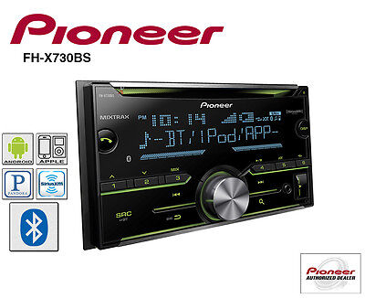 Pioneer Double Din CD Player Radio Bluetooth Pandora Iphone AUX USB FH-X730BS