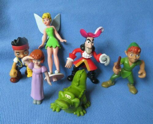 Disney PETER PAN JANE  HOOK TINKERBELL TICK CROC  JAKE toy Cake figure lot