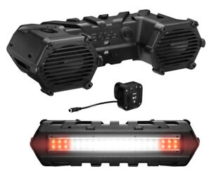 Boss Audio Amplified Bluetooth ATV Speakers Sound System with LEDs | ATVB69LED