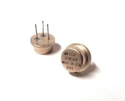 Jantx2n1485 2n1485 Npn Silicon Power Transistor To-8 By Microsemi Lot Of 10