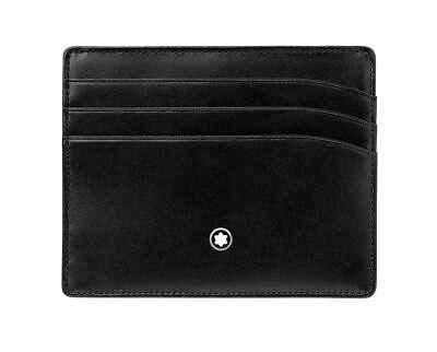 Montblanc Meisterstuck Wallet Pocket Card Holder Black 6cc 106653
