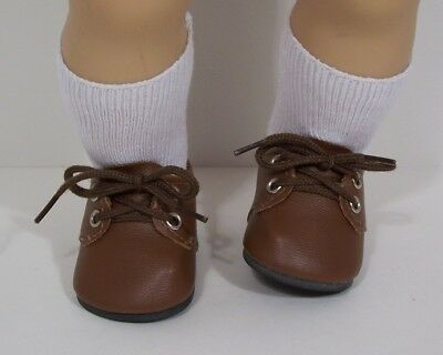 BROWN Dress Up or Casual Doll Shoes For 15
