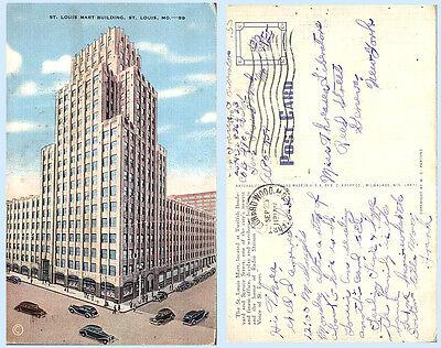 Mart Building 12th Boulevard St Louis Missouri Postcard Architecture