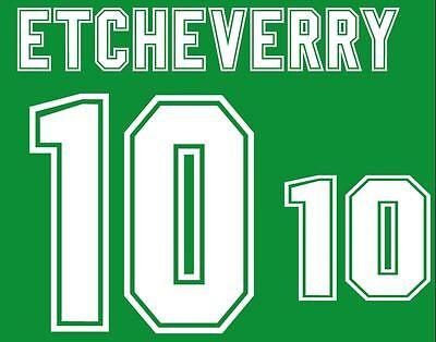 Etcheverry #10 WC 1994 Bolivia Home Football Nameset for shirt image