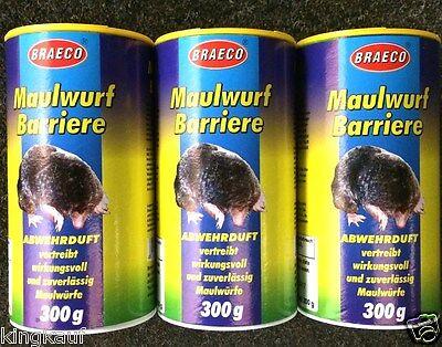Maulwurfabwehr 3x 300g Maulwurfvertreiber Maulwurfschreck Maulwurf Abwehr Stop