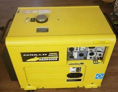 Generador Diesel Used Marca Apollo Exelente Condiciones Modelo Aed 6500s