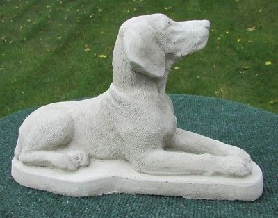 CONCRETE GERMAN SHORT HAIR POINTER STATUE, MEMORIAL OR GRAVE MARKER