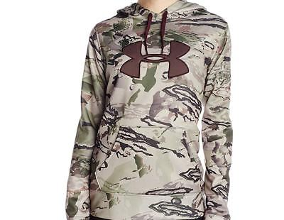 53163b61ff0ce Under Armour Women's L Fleece Camo Big Logo Hoodie NWT $75 - Brown - Small