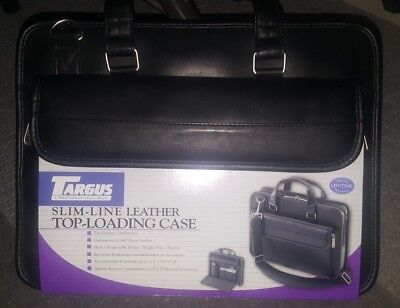 NEW Targus SLIM-LINE 300 LEATHER TOP Loading Laptop / TABLET Case NEW