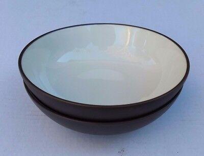 Noritake Colorwave Chocolate Cereal (Set of 2 Noritake Colorwave CHOCOLATE 8046 Coupe Soup Cereal Bowls)