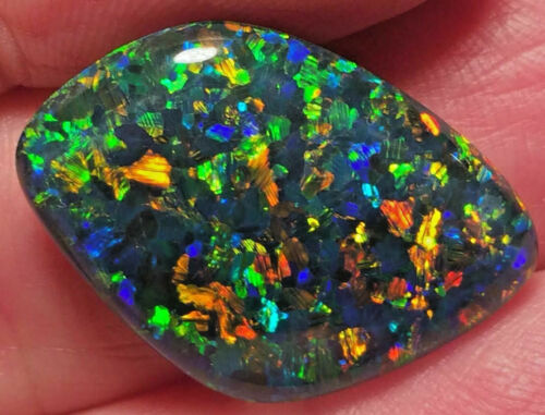 """Opal Triplet Earth Mined """"Supper Gem Grade"""" Brilliant Variety of All Colors 19ct"""