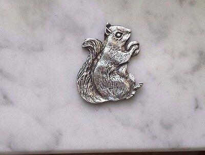 The one who always get his nuts 1 SQUIRREL PEWTER PIN ALL New