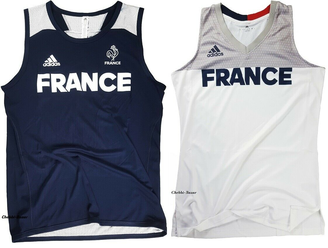 Adidas France Basketball Trikot Frankreich Jersey Sport Basket Shirt XS - 4XL