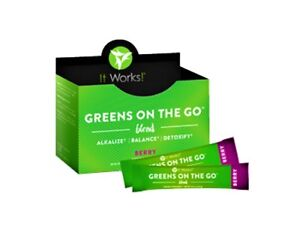 It Works! Greens on the Go Blend Packets - Berry Flavor - New! Box of 30 Packets