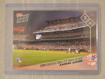 2017 Topps Now  487 Aaron Judge New York Yankees Subway Series Blast Citi Field