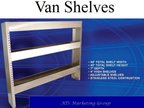 "Carpet Cleaning 48"" Truckmount Adjustable S/S Van Shelves"