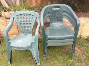 Outdoor plastic chairs Shelley Canning Area Preview