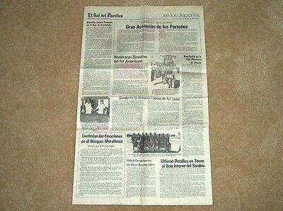 APRIL 7,1981 MAZATLAN, MEXICO (EL SOL DEL PACIFICO) NEWSPAPER