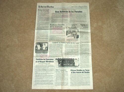 """1981 MAZATLAN, MEXICO """"EL SOL DEL PACIFICO"""" APRIL 7 NEWSPAPER COMPLETE"""